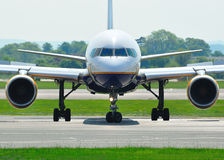 757 boeing Royaltyfri Fotografi