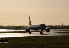 757 sulla pista per manovre Fotografia Stock