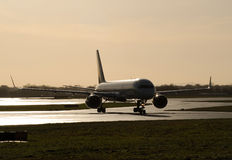 757 On the Taxiway Stock Photography