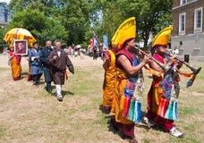 75ste de verjaardagsvieringen van Dalai Lama Stock Afbeelding