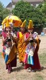 75th födelsedagberömmar Dalai Lama s Arkivbild