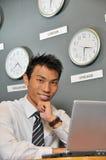 76个企业时钟办公室 图库摄影