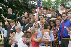 76 new American citizens. Taking oath of citizenship at Independence Day Naturalization Ceremony on July 4, 2005 at Thomas Jefferson's home, Monticello Royalty Free Stock Photography
