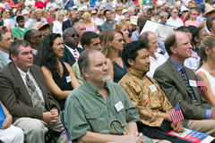 76 nuovi cittadini americani Immagine Stock