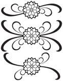 77 garneringar detailed infall royaltyfri illustrationer