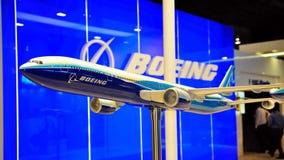 777 2010 airshowboeing model nivå singapore Arkivfoto