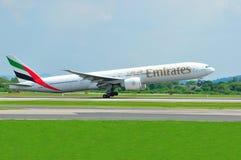 777 boeing emirates Arkivbild