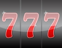 777. Winning in slot machine. 777. Winning in slot machine illustration design royalty free illustration