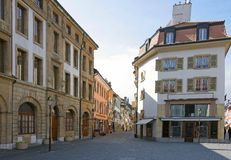 78 παλαιές όψεις πόλεων Στοκ Εικόνα