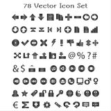 78 Vector Icon Set Royalty Free Stock Photography