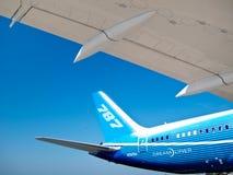 787 - Arrière et aile de Dreamliner Photographie stock libre de droits