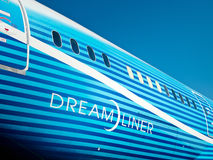 787 Dreamliner Fuselage Royalty Free Stock Images