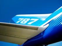 787 dreamliner ogonu skrzydło Fotografia Royalty Free