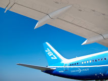787 - Tail And Wing Of Dreamliner Royalty Free Stock Photography