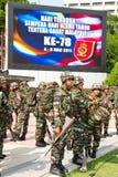 78th Malaysian Army Anniversary Celebrations 2011. KUALA LUMPUR, MALAYSIA-MAR 5: The Royal Malay Regiment  getting ready at the 78th Army Anniversary on Mar 5 Stock Photos