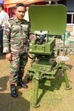 78th Malaysian Army Anniversary Celebrations 2011. KUALA LUMPUR, MALAYSIA-MAR 5:Unidentified soldier with a radar at the 78th Army Anniversary on Mar 5, 2011 in Stock Photos