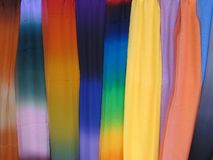 7958 färgrika scarves Fotografering för Bildbyråer