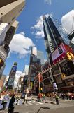 7de Ave en Times Square, de Stad van New York Royalty-vrije Stock Foto's