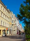 7st Ligne à l'île de Vasilyevsky. St Petersburg Photographie stock