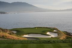 7th Hole. Pebble Beach Golf Course Stock Image