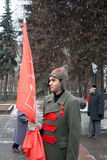 7th of November communist demonstration Royalty Free Stock Photos