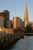 7th Street Pier and Transamerica Building Royalty Free Stock Images