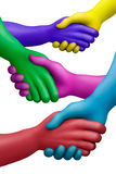 8个协议颜色 免版税库存图片