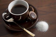 8个咖啡杯 免版税库存图片