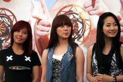 8个女孩新加坡奇迹 免版税库存图片