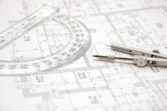 8个建筑计划 库存图片