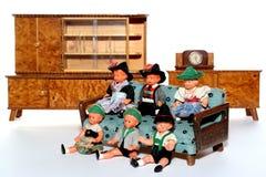 8个玩偶会议 免版税库存照片