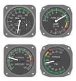 8个航空器测量仪 图库摄影