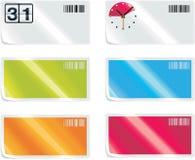 8个要素图标零件集合购物向量 免版税库存照片