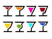 8个鸡尾酒 向量例证