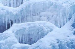 8冻结瀑布 免版税库存图片