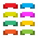 8副抽象横幅五颜六色的illustr集合向量 图库摄影