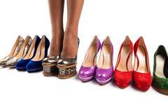 8双行程鞋子 库存照片