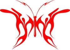8只蝴蝶火焰状部族向量 免版税库存照片