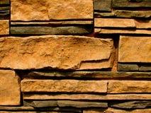 8块砖模式石墙 库存图片