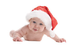 8婴孩圣诞老人 免版税库存照片