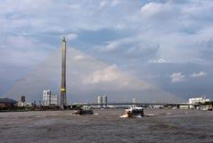 8座桥梁兆rama吊索泰国 库存图片