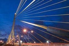 8座桥梁兆rama吊索 库存图片