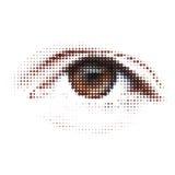 8抽象数字式eps眼睛例证 皇族释放例证