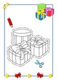 8本书圣诞节着色 库存图片