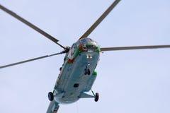 8架直升机mi军事俄语 免版税图库摄影