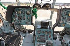 8架直升机mi沙龙 库存图片