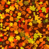 8片秋天背景明亮的eps叶子 免版税库存照片