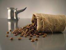 8粒豆咖啡 库存照片