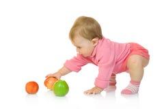 8苹果婴孩查出的小 免版税库存照片