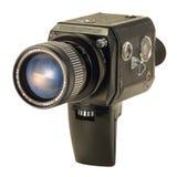 8超级黑色照相机的影片 库存图片